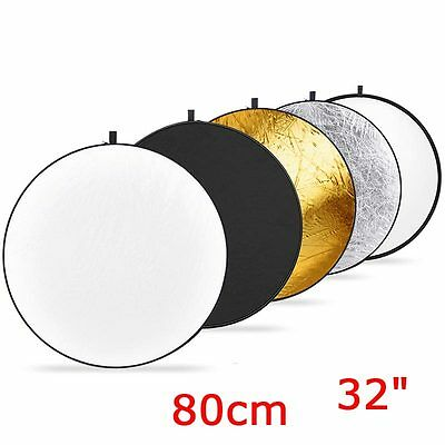 "Neewer 32"" 80cm 5 in 1 Photo Round Studio Collapsible Reflector Light Diffuser"