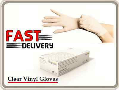 Unicare Clear Vinyl Food Catering Disposable Powder Free Gloves 100 200 300 1000
