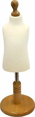 Child Age 1 Tailors Dummy Cream Dressmakers Mannequin Display Beach Round Base