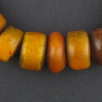 African Moroccan Amber Resin Beads - Petite (Medley) Morocco