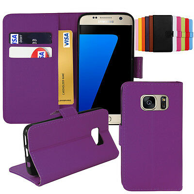 Samsung Galaxy S7 S7 Edge Leather Wallet Stand Slim Book Flip Case Cover Pouch