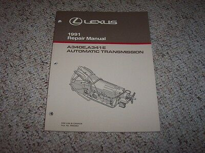 1991 Lexus LS400 SC400 LS SC 400 A340E A341E Transmission Service Repair Manual