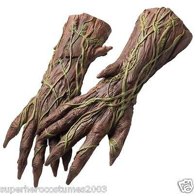 Guardians of the Galaxy Groot Latex Hands Gloves Adult Marvel Comics Brand New