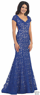 Sale ! Mermaid Formal Prom Gowns Open Back Evening Red Carpet Dresses Under $100