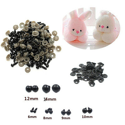 Toy Safety 6-14mm 100pcs Animal/Felting Black For Teddy Bear Eyes HOT Plastic