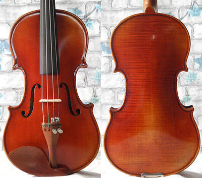 Beautiful flamed 1/4 kids violin, with case bow , well balanced