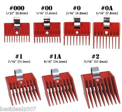SPEED O GUIDE Universal Clipper Comb Attachment All 7 Size Set Fits Most Brands