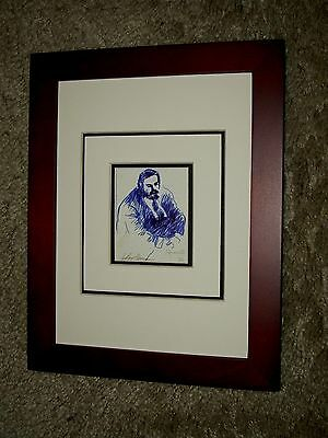 Impressive Framed Image of Luciano Pavarotti by Leroy Neiman