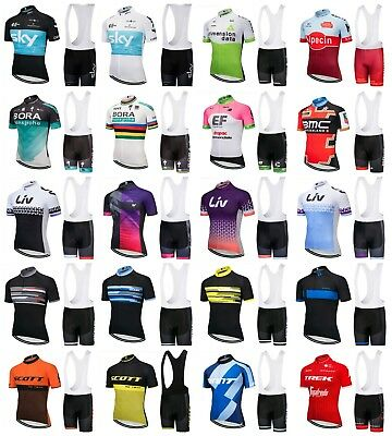 NEW! 2016 Team Sport Cycling Jersey Short Pants Set Bike Clothing Sky Sports Liv