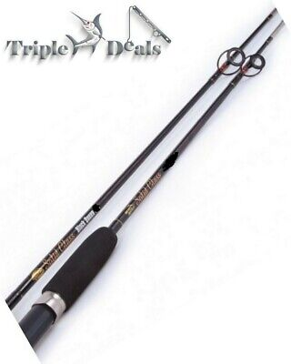 7'9 Jarvis Walker Black Queen 2-5 Kg Solid Glass Fishing Rod - 2 Pce Spin Rod