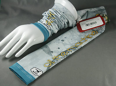 Sugoi Arm Sleeves Fino Stretch Flora Oil The Machine Gray Blue NWT Small