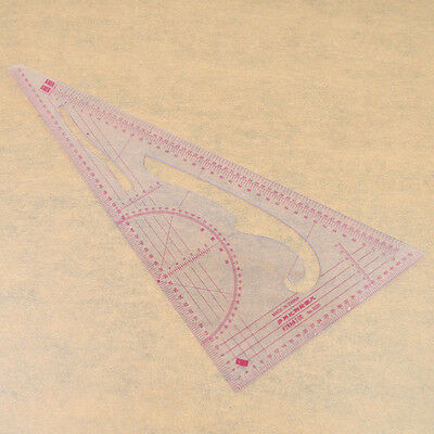 Plastic Measure Clothes Ruler 1:3 1:4 1:5 Proportion 90 Degree Triangle Scale