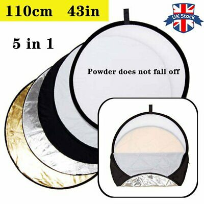 "UK 110cm 43""  5 in 1  Light Diffuser Round Reflector Disc with  Carrying Bag"