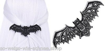 Restyle Haarspange Lace Bat Barrette Gothic Vampire Wings WGT Hairclip Steampunk