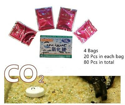 80pcs CO2 Tablets Carbon Dioxide For Plants Aquarium Fish Tank Diffuser Plant