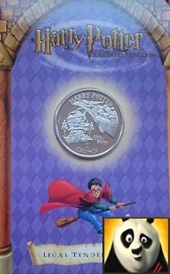 2002 ISLE OF MAN 1 One Crown HARRY POTTER Burrow Presentation Pack Unc Coin