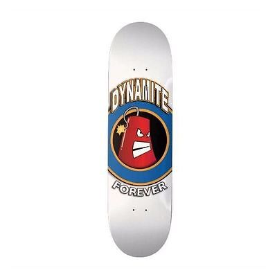Dynamite Forever Skateboard Deck Iconic White New FREE GRIP & FREE POST