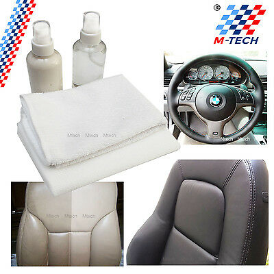 Kit Cleaning Leather Steering Wheel Seats Spray Cleaner + Conditioner Bmw F10