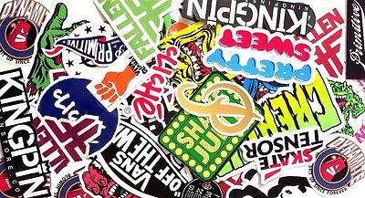 Assorted Skateboard Brands 5 Pack Stickers Assorted FREE POST Skate decal