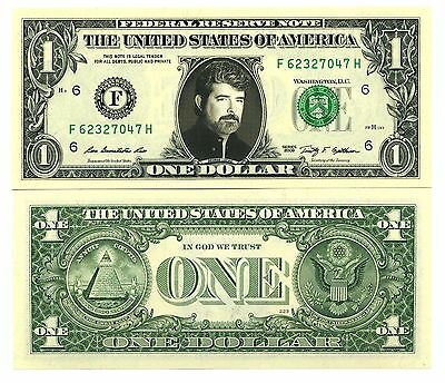GEORGE LUCAS - VRAI BILLET de 1 DOLLAR US ! Collection STAR WARS Indiana Jones