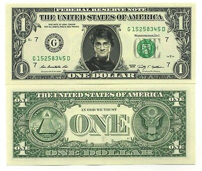 HARRY POTTER - VRAI BILLET de 1 DOLLAR US ! A VOIR !! Collection Fantastique
