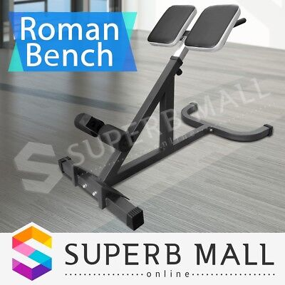 Roman Chair Fitness Home Gym Bench Hyper Extensions Sit Up Crunches Training