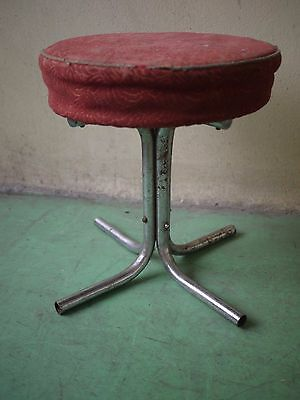 antique halabala chrome stool 1960's