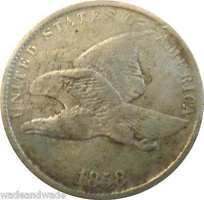 1858 1C Small Letters Flying Eagle Cent VG Condition Nice Example Lot#11