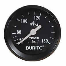 DURITE 0-533-15 Mechanical Oil Temperature Gauge with 12' Capillary - 52mm