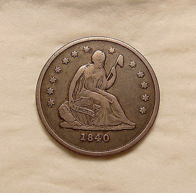 "1840-O Liberty Seated Quarter - ""No Drapery Variety"" - Very Nice Looking Coin"