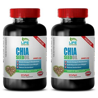 Chia Seeds Powder - Chia Seed Oil 2000mg - Blood Sugar Support Pills 2B