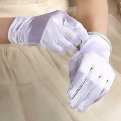Wedding gloves short satin bridal gloves wrist length party wedding prom gloves.