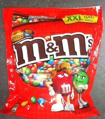 PEANUT BUTTER M&Ms Candy 50oz XXL Bulk Bag CHOCOLATE Vending Halloween PARTY
