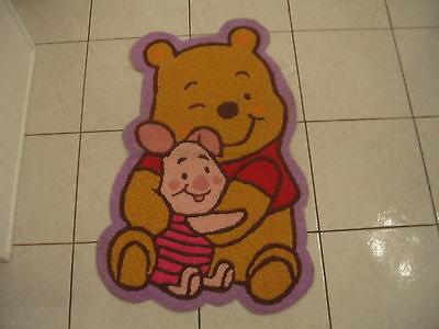 Adorable Disney Winnie The Pooh And Piglet Nursery Bedroom Rug Hooked