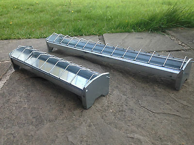 30cm or 50cm galvanised chick chicken duckling quail poultry trough feeder bars