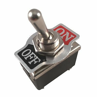 Metal Rocker Toggle Switch Heavy Duty 4 Pin DPST On/Off 2 Position Dash Car Boat