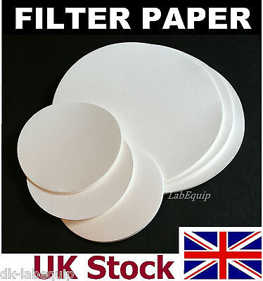 Filter Paper for laboratory, Medium Grade, Circular, chemistry, qualitative - UK