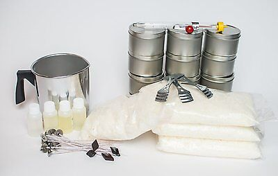 Candle Making Kit Soy Fragrance Oils Beginners Wax Wick Bundle Thermometer Make