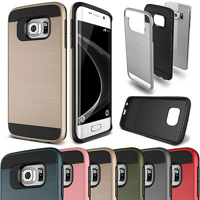 Hybrid Rugged Shockproof Dustproof Brushed Slim Case  For Galaxy S3S4S5S6S7 Edge
