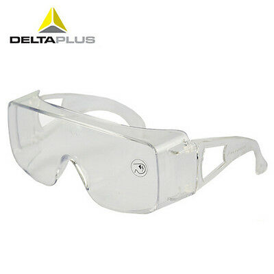 DeltaPlus Clear Safety Protective Goggles Anti sling Glasses Specs Spectacles