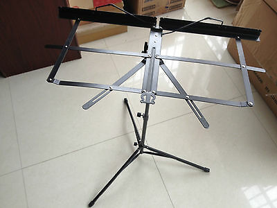 Nice music Stand black steel made light durable and flexible
