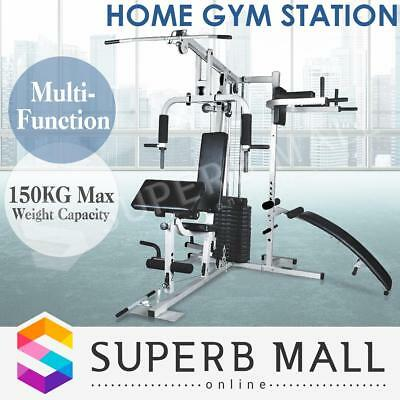 Home Gym Multi Station Fitness Exercise Equipment Weight Bench Sit Up Dumbbell