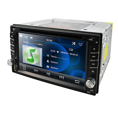 GPS Navigation 2Din Car Stereo Radio DVD Player Aux Bluetooth MP3 Mic RDS USB