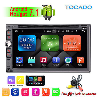 """7"""" GPS Navi Android 6.0 2 Din Car Stereo DVD Player WIFI 4G Bluetooth AUX Radio"""