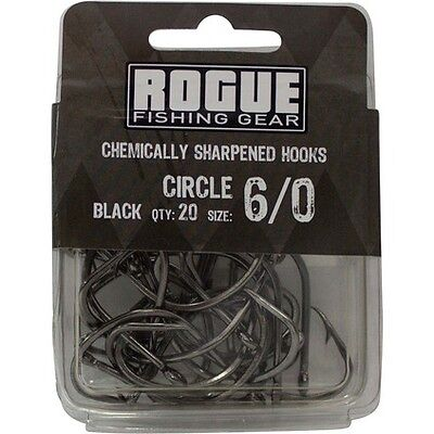 Rogue Circle Hook Black 6/0 20pk Bulk Pack