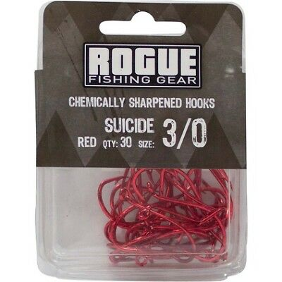 Rogue Suicide Hook Red 3/0 30pk Bulk Pack