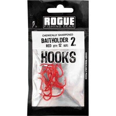 Rogue Baitholder Hook Red 2 12pk Pre Pack