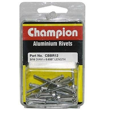 Champion Aluminium Rivets - 3/16x0.650, Assorted