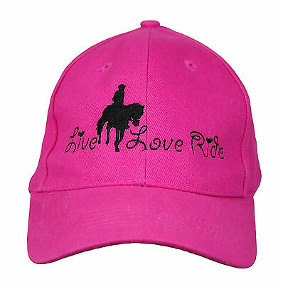 Horse Baseball Cap Hat Horse Live Love Ride Brand New 10 Colours