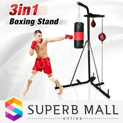3 In 1 Multi Station Boxing Stand Kick Bag Floor To Ceiling Speed Punching Ball